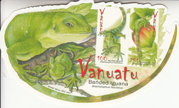 2007 Vanuatu Banded Iguana Reptile Souvenir Sheet  MNH - Vanuatu (1980-...)