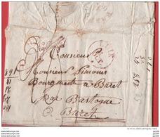 Belgique Précurseur Complet 1 X 1830 LUIK Na Posttijd Vers BURET Bastogne - 1830-1849 (Belgique Indépendante)