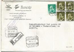 TORROELLA DE MONTGRI GIRON CC CERTIFICADA A BELGICA SELLOS BASICA - 1931-Hoy: 2ª República - ... Juan Carlos I
