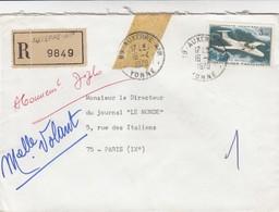 LETTRE RECOMMANDÉ  AUXERRE AIR   /  2 - Poststempel (Briefe)