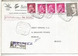 BELMEZ CORDOBA CC CERTIFICADA A BELGICA SELLOS BASICA - 1931-Hoy: 2ª República - ... Juan Carlos I