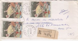 LETTRE RECOMMANDÉ  COMINES   /  2 - Poststempel (Briefe)