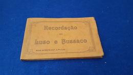 """RARE ANTIQUE PORTUGAL X12 POSTCARD CARNET """" RECORDAÇÃO DO LUSO E BUSSACO"""" COMPLETE - Aveiro"""