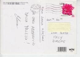 MALESIA  2003 - Flora - Fiori - Cartolina Per Italia - Malesia (1964-...)