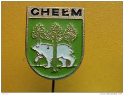 List 103 - CHELM, POLAND, Blason, Ecusson, Embleme, Coat Of Arms, BEAR, OURS - Ciudades