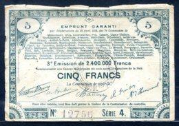 453-Emprunt Garanti Billet De 5 Francs 3e émission Série 4 RARE - Bonds & Basic Needs