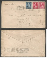 USA. 1899 (10 March) Minneapolis, Minn - Norway. Trondhjem. Multifkd Envelope. 5 Cts Rate. - United States
