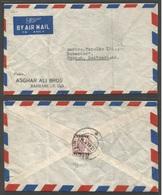 BAHRAIN. 1949 (13 March) GPO - Switzerland, Zurich. Air Reverse Ovptd Fkd Envelope, Cds. Fine. - Bahrain (1965-...)