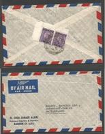 BAHRAIN. 1948 (13 Nov) GPO - Switzerland, Dubendorf. Reverse Air Multifkd Envelope, 6 Annas Rate. Cds. Fine. - Bahrain (1965-...)