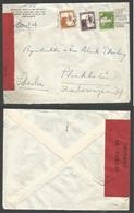 """PALESTINE. 1940 (13 March) Jerusalem - Sweden, Stockholm. Censored Multifkd Envelope """"Swedish Jerusalem Society"""". Fine. - Palestine"""