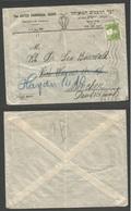 PALESTINE. 1928 (8 Sept) Jerusalem - Germany, Munich. The United Rabbinical Board. Unsealed Pm Rate Fkd Envelope, Rollin - Palestine