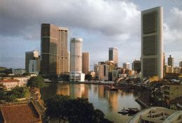 1 AK Singapur * Singapore River With Commercial Centre Of Singapore * - Singapour