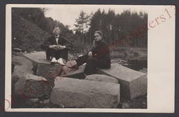 LITUANIE Jolie Carte Photo Siauliai 2 Jeunes Hommes Avec Bandeau Sur L'oeil 1929 - Lietuva Lithuania - Personnes Nommées - Lituanie