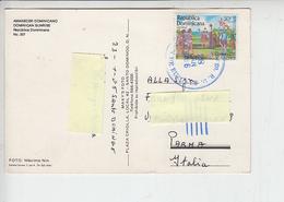 REP.DOMENICANA  1986 - Yvert 1001 - Cartolina Per Italia - Scoperta Dell'Amerrica - C.Colombo - Repubblica Domenicana