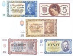 Slovakia 5 Note Set 1939 COPY - Slovakia