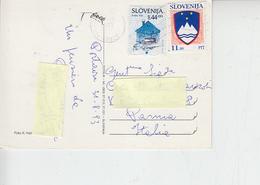 SLOVENIA  1993 - Unificato 5 - 42 - Su Cartolina Per Italia - Slovenia