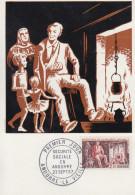 Carte  Maximum  1er  Jour  ANDORRE   Sécurité   Sociale     1967 - Maximumkarten (MC)