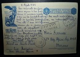 Cartolina Postale Per Le Forze Armate - Viaggiata 1942 - Sommergibile Bragadino - 1900-44 Victor Emmanuel III