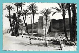 MAROC MARRAKECH LES REMPARTS DE BAB BOUKKALA 1954 - Marrakech