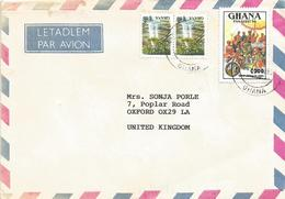 Ghana 1995 Cantonments PANAFEST Royal Chief C200 Mi C2098 Boti Falls Cover - Ghana (1957-...)