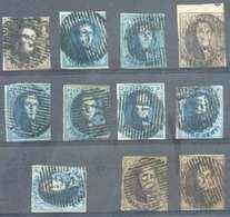 Lot De 11 Médaillons (6/7/10 Ou 11) Avec Oblitérations De Distributions Généralement Bien Frappées Dont D.128 ALVERINGHE - 1849-1865 Medallions (Other)