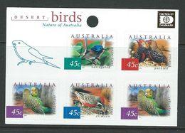 AUSTRALIA, 2001 HAFNIA 2001, DESERT BIRDS, NATURE, AUTOADHESIVE STAMPS, MNH - 2000-09 Elizabeth II