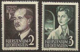 Liechtenstein 1955: Fürstenpaar Zu 276-277 Mi 332-333 Yv 294-295 ** Postfrisch MNH (Zu CHF 250.00) - Liechtenstein