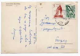 1959 YUGOSLAVIA, SLOVENIA, ROGASKA SLATINA, TPO   ROGAŠKA SLATINA-ZAGREB - Yugoslavia