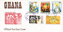 Ghana 1983 Christmas FDC Cover - Ghana (1957-...)