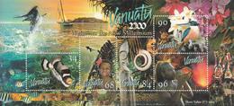 2000 Vanuatu Millennium Fish Flowers Culture Souvenir Sheet  MNH - Vanuatu (1980-...)