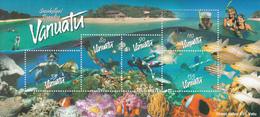 2003 Vanuatu Snorkelers Paradise Fish Coral Marine Life Souvenir Sheet  MNH - Vanuatu (1980-...)