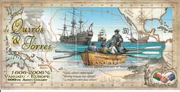 2006 Vanuatu De Quiros Explorers Ships Maps Souvenir Sheet  MNH - Vanuatu (1980-...)