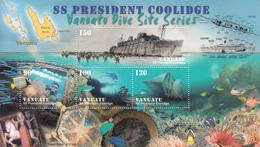 2006 Vanuatu Coolidge WWII Dive Site Fish Souvenir Sheet  MNH - Vanuatu (1980-...)