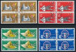 Zumstein 320-323 / Michel 607-610 - Viererblockserie Mit Ersttagsstempel - Usados