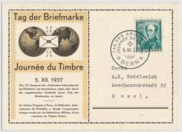 1937 Tag Der Briefmarke BERN - Postmark Collection