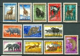 Belg. Congo/Congo Belge 1959 OBP/COB 350/361* Cote € 3,90 - Belgisch-Kongo
