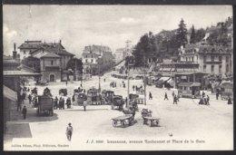 Lausanne - Avenue - Ruchonnet Et Place De La Gare - Bahnhof - 1909 - VD Vaud