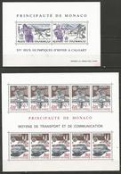 Monaco - Lot De 14 Blocs-feuillets Neufs** - Francobolli