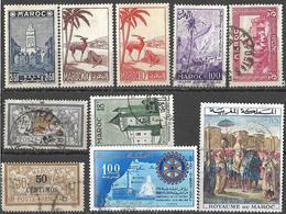 9Ab-962: Restje 20 Zegels  Diverse ... Verder Uit Te Zoeken.. - Maroc (1956-...)