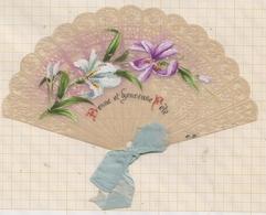 9AL1223 CARTE PARCHEMIN ??? EVENTAIL Illustrateur Peint    2 SCANS - Illustrators & Photographers