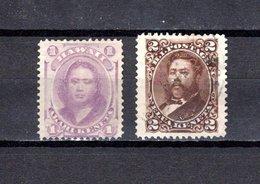 Hawai   1864/75 .  Y&T  Nº  22-27 - Hawaii