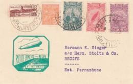 Brazil Postcard 1933 Zeppelin - Brésil