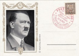 Deutsches Reich Postkarte Propaganda 1939 Bild Adolf Hitler - Deutschland