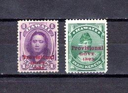 Hawai   1893 .  Y&T  Nº  42/43 - Hawaii