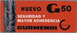 NUEVO G50 ACERO GURMENDI. TABLA DE SECCIONES Y PESOS ARBENTINA CIRCA 1970 PUBLICITE X21grs - BLEUP - Altri
