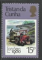 TRISTAN DA CUNHA 1980 Truck Transport LONDON 15p MNH - Tristan Da Cunha