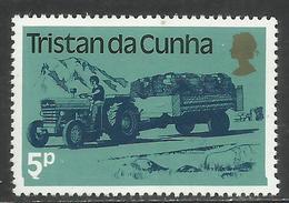 TRISTAN DA CUNHA 1983 TRACTOR PULLING TRAILER 5p MNH - Tristan Da Cunha
