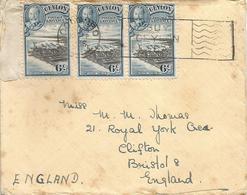 Ceylon Sri Lanka 1935 Colombo Harbour Buy Tea Slogan Cover - Ceylan (...-1947)