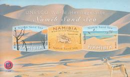 2015 Namibia Sand Sea UNESCO  Jackal Insects Miniature Sheet Of 3 MNH - Namibia (1990- ...)