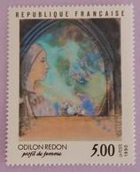 """FRANCE YT 2635 NEUF**MNH"""" PROFIL DE FEMME D ODILON REDON"""" ANNÉE 1990 - Neufs"""
